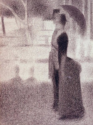 Study For Sunday Afternoon On The Island Of La Grande Jatte Poster by Georges Pierre Seurat