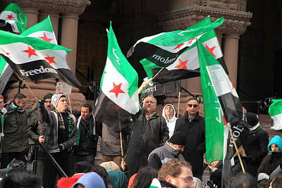 Syrian Demonstrators Poster by Valentino Visentini