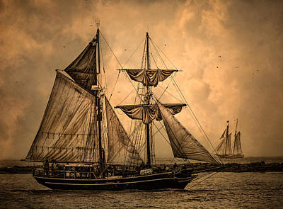 Tall Ships Poster by Dale Kincaid