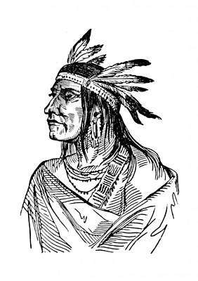 Tecumseh, Shawnee Indian Leader Poster by British Library