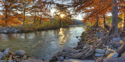 Texas Hill Country Images - Pedernales Falls State Park Sunrise  Poster by Rob Greebon