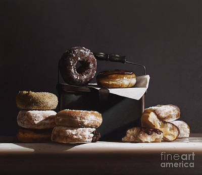 Tin With Donuts Poster by Larry Preston