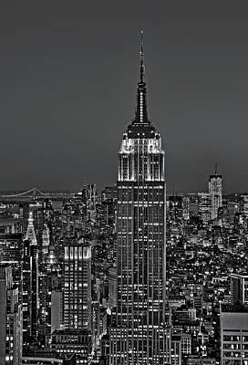 Top Of The Rock Bw Poster by Susan Candelario