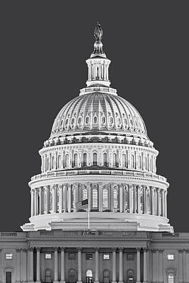 Us Capitol Dome Poster by Susan Candelario