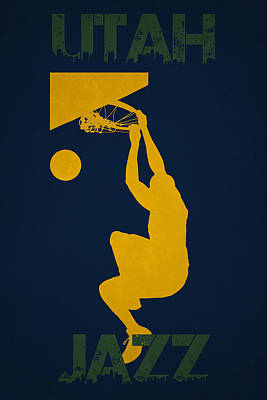 Utah Jazz Poster by Joe Hamilton