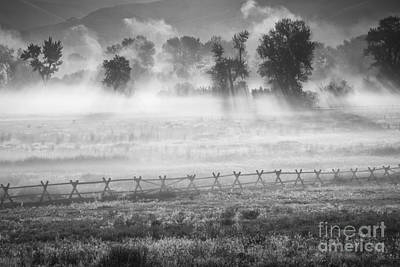 Valley Mists Poster by Idaho Scenic Images Linda Lantzy