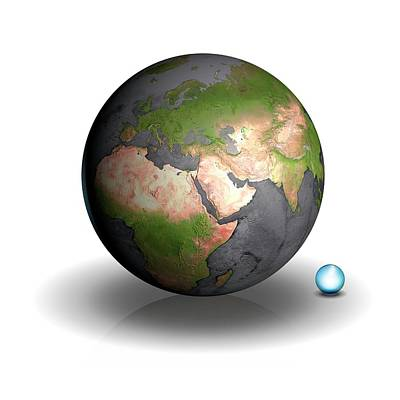 Volume Of Earth's Water Poster by Mark Garlick