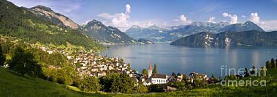 Weggis Switzerland Poster by Brian Jannsen