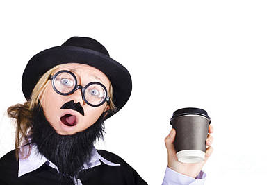 Woman With Cup Of Coffee Poster by Jorgo Photography - Wall Art Gallery