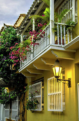 Wonderful Spanish Colonial Architecture Poster by Jerry Ginsberg