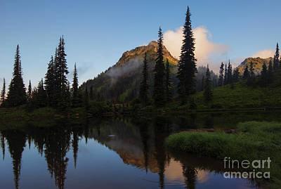 Yakima Peak Reflections Poster by Mike  Dawson