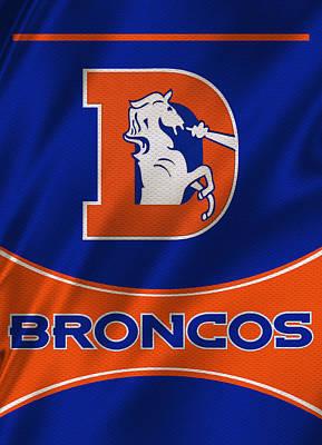 Denver Broncos Uniform Poster by Joe Hamilton