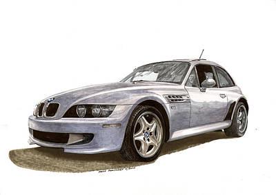 B M W M Coupe 2001 Poster by Jack Pumphrey