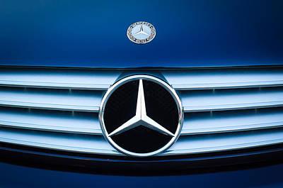 2003 Cl Mercedes Hood Ornament And Emblem Poster by Jill Reger