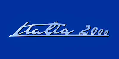 2008 Maserati Gran Turismo Emblem - Italia 2000 Emblem Poster by Jill Reger