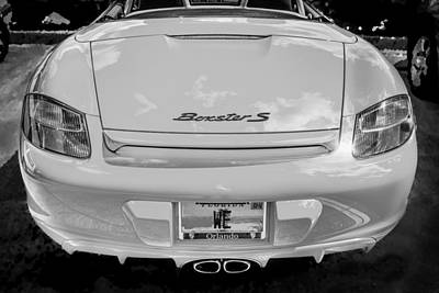 2008 Porsche Limited Edition Orange Boxster Bw Poster by Rich Franco