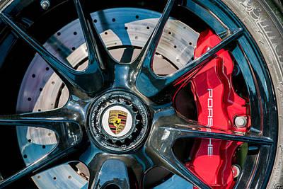 2011 Porsche 997 Gt3 Rs 3.8 Wheel Emblem -0989c Poster by Jill Reger