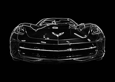 2014 Chevy Corvette Stingray Covertible Poster by Patsy Zedar