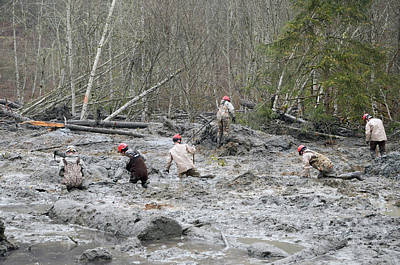 2014 Oso Mudslide Poster by Us Army National Guard