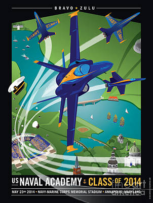 2014 Usna Commissioning Week Poster by Joe Barsin
