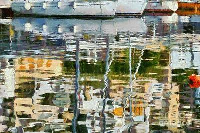 Reflections In Mikrolimano Port Poster by George Atsametakis