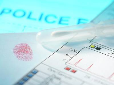 Forensic Evidence Poster by Tek Image
