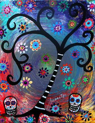 Dia De Los Muertos  Poster by Pristine Cartera Turkus