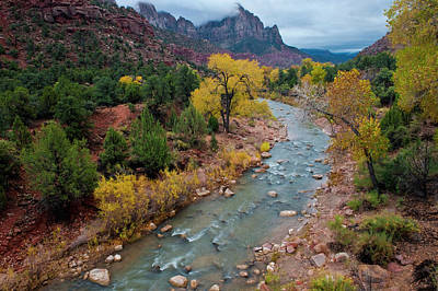 Usa, Utah, Zion National Park Poster by Jaynes Gallery