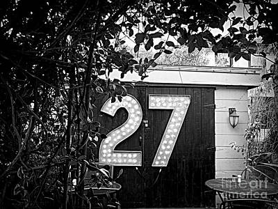 27 In Lights Poster by Valerie Reeves