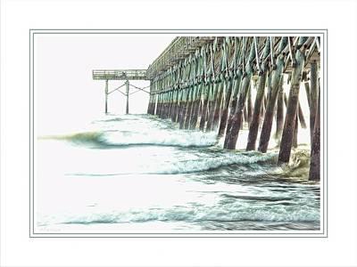 2nd Avenue Pier In Myrtle Beach Poster by Barry Monaco
