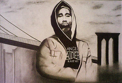 2pac Poster by Aileen Carruthers