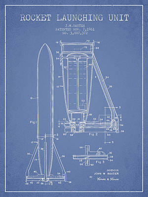 Rocket Launching Unit Patent From 1961 Poster by Aged Pixel