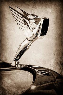 1931 Cord L-29 Legrande Speedster Hood Ornament Poster by Jill Reger