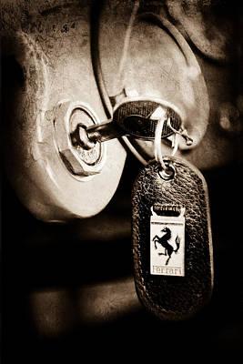1956 Ferrari 500 Tr Testa Rossa Key Ring Poster by Jill Reger