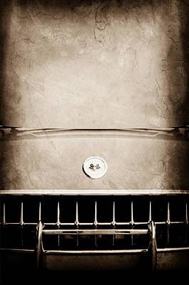 1957 Chevrolet Corvette Grille Emblem Poster by Jill Reger