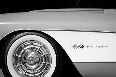 1957 Chevrolet Corvette Wheel Emblem Poster by Jill Reger