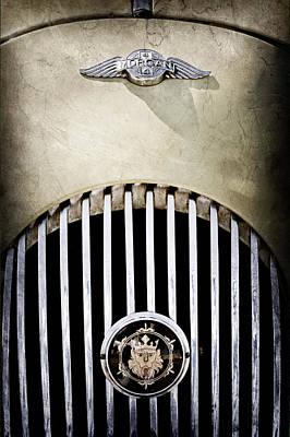 1969 Morgan Roadster Grille Emblems Poster by Jill Reger