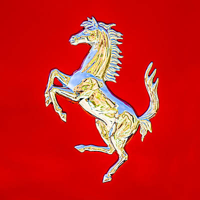 1999 Ferrari 550 Maranello Stallion Emblem Poster by Jill Reger