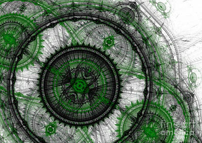 Abstract Mechanical Fractal Poster by Martin Capek