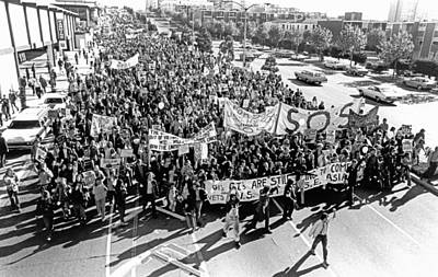 Anti Vietnam War Demonstration Poster by Underwood Archives Adler