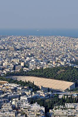 Athens And Panathenean Stadium Poster by George Atsametakis
