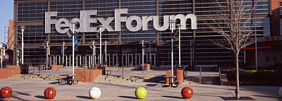 Basketball Stadium In The City, Fedex Poster by Panoramic Images