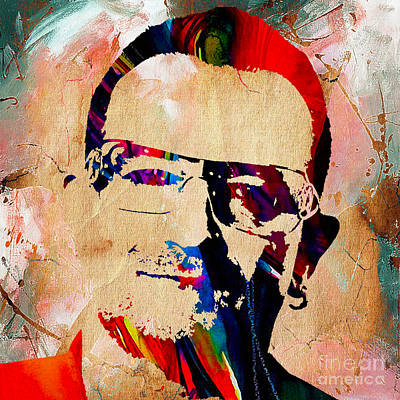 Bono U2 Poster by Marvin Blaine