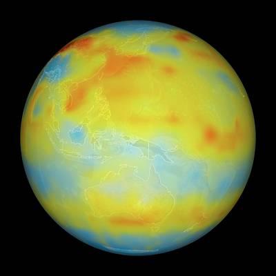Carbon Dioxide Levels Poster by Nasa/goddard Space Flight Center/jet Propulsion Laboratory Scientific Visualization Studio