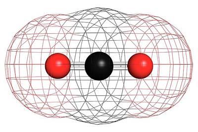 Carbon Dioxide Molecule Poster by Molekuul