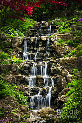 Cascading Waterfall Poster by Elena Elisseeva