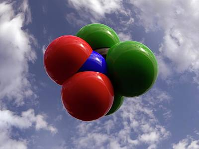 Chloropicrin Molecule Poster by Indigo Molecular Images
