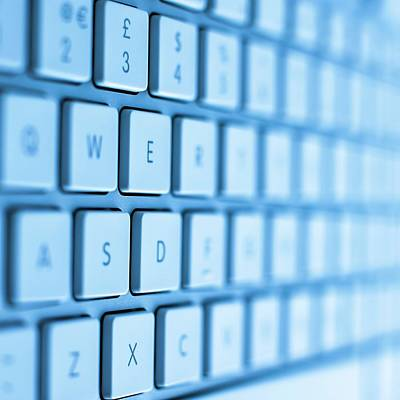 Computer Keyboard Poster by Science Photo Library