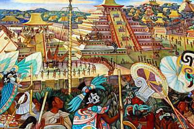 Diego Rivera Mural Mexico City Poster by Jim McCullaugh