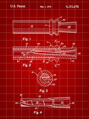 Duck Call Patent 1979 - Red Poster by Stephen Younts